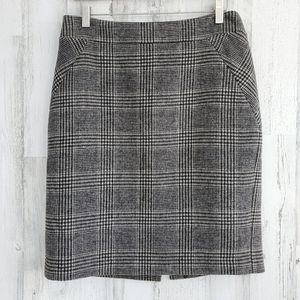 Premise Plaid Wool Blend Skirt